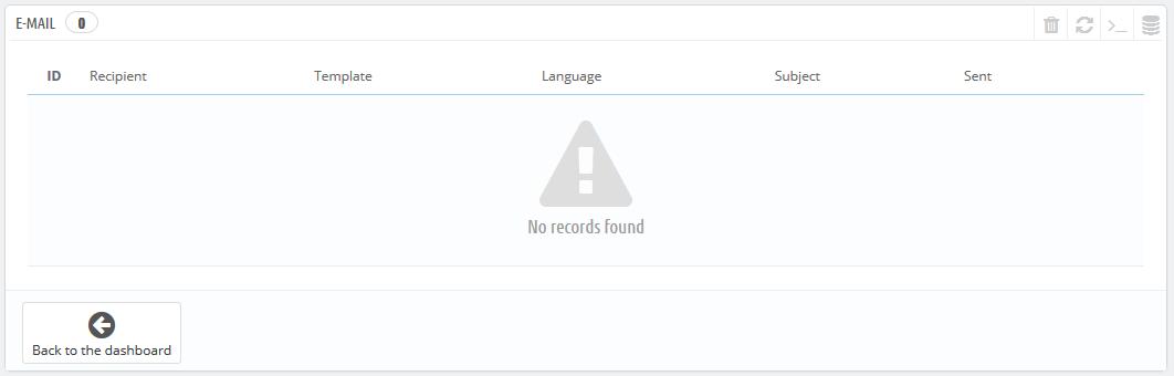 log email prestashop
